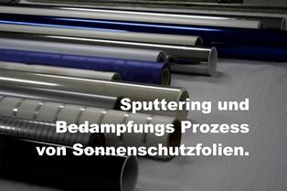 Sputtering Verfahren bei Folien