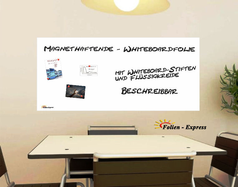 Magnethaftende Folie in Weiss