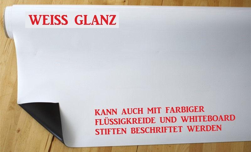 Magnet Folie Weiss Glanz